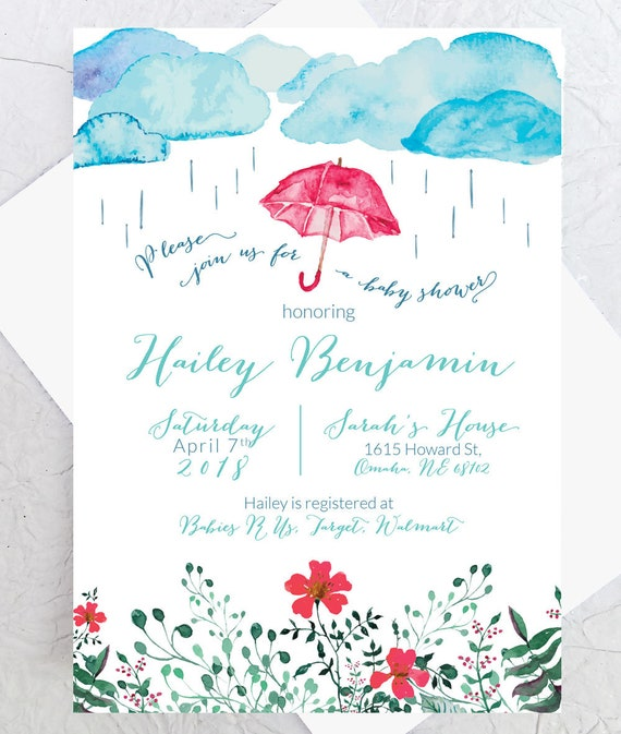 April showers baby shower invite spring baby shower filmwisefo