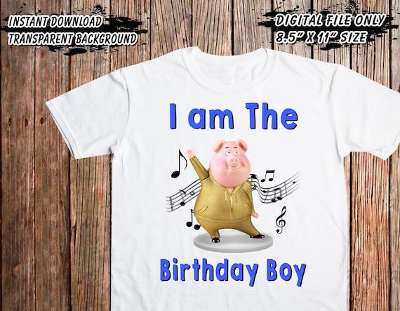 Birthday Boy Sing Movie Iron On Transfer Digital Printable Files Only DIY High Resolution Image