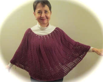 Pdf MULBERRY MAGIC An Easy Eyelet Poncho Pattern (Revised)