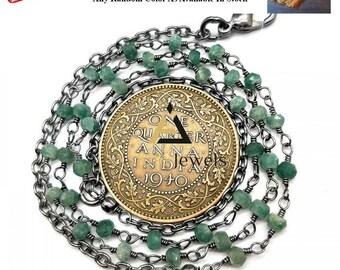Natural Green Aventurine  rosary beads chain necklace, Green Aventurine  necklace, rosary necklace, beads chain necklace, catholic rosary