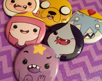 Adventure Time 6 Button Set