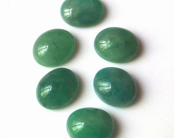 6 Pieces 12X10 MM Oval Shape Natural Brazilian Green Emerald Cabochon Cut Calibrated Gemstone Wholesale Lot 10X12 MM Oval Cabs Stone