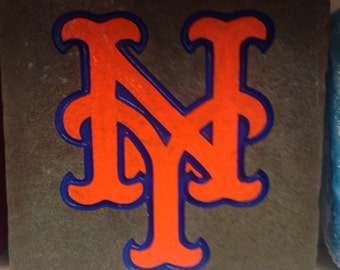 New York Mets Garden Stone, baseball fan, one of a kind gift, real Pennsylvania stone