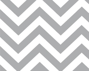 REMNANT! Steel (Gray) Chevron (Small) from the Half Moon Modern Collection, by Moda, 1/2 yard