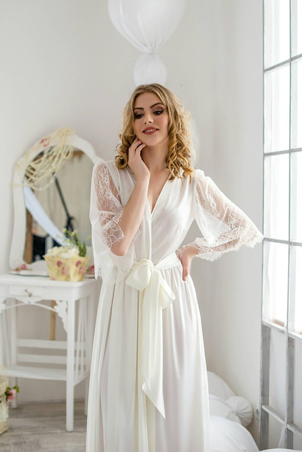 Bridal Robe womens robe wedding robe getting ready robe