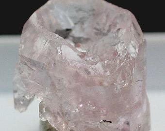 Hoppered Rose Quartz Crystal, Brazil - Mineral Specimen for Sale