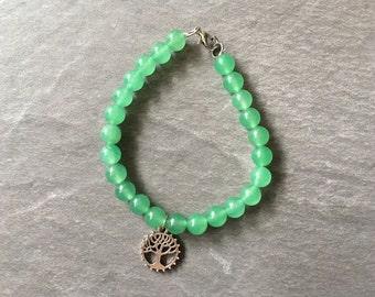Beaded tree of life bracelet