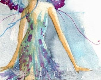 Blue Fairy A4 Art Print