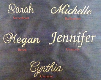 Custom Embroidery Name for Bridal Clutch or Bridesmaid Clutch