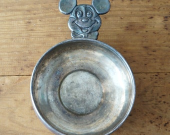 1950s Vintage Wallace Walt Disney MICKEY MOUSE 2600 Collectible Silver Plated Bowl