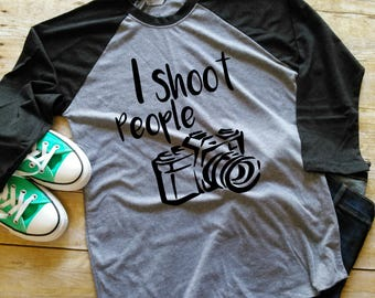 Camera Raglan Tee | Photography Shirt | Photography Gifts | Camera Shirt | Photographer Tee | Camera Tee | Photographer Gifts