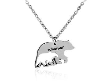 NEW SHOP Intro Price!!! Mama Bear Necklace - Silver