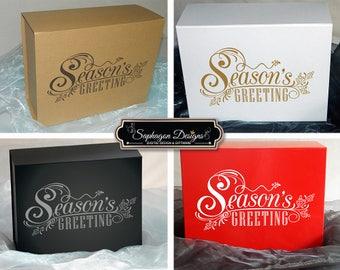 Season's Greetings Christmas Gift Boxes, Personalised Christmas Gift Box, Christmas Gift Ideas