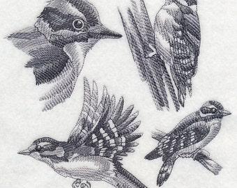 Custom Embroidered Downy Woodpecker Sweatshirt S-3XL