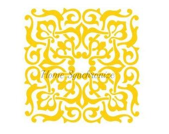 Arabesque Pattern Stencil-Decorative Pattern-Tile Stencil