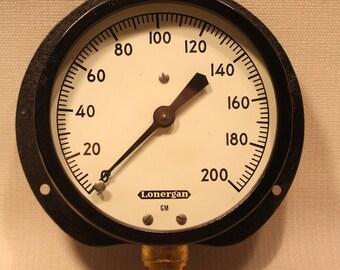 Vintage Lonergan Pressure Gauge