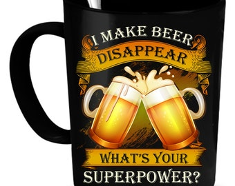 Beer Coffee Mug 11 oz. Perfect Gift for Your Dad, Mom, Boyfriend, Girlfriend, or Friend - Proudly Made in the USA!