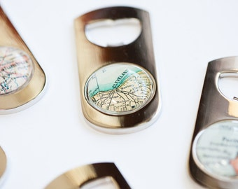 Custom Map Bottle Opener - Custom Beer Opener - Map Bottle Opener - Groomsmen Gift - Groomsman Gift - As Seen in Imbibe Magazine