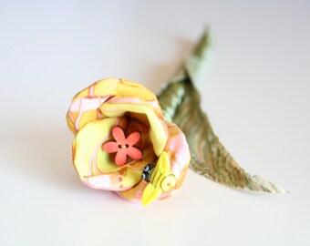 Tulip Stem, Handmade Fabric Flower, Everlasting Bouquet, Eco Friendly Wedding, Bridal Flowers, Soft Sculpture Flower, Get Well Flowers