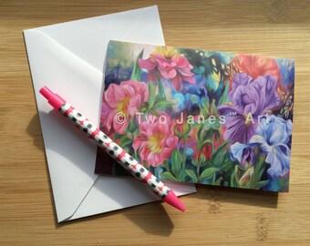 Flower Parade-Blank Greeting Card