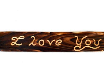 I Love You Plaque - Wooden Plaque - Wall Plaque - Love Sign - Engagement Gift - Wedding Gift - Gift Idea - Gifts for Her - Romance
