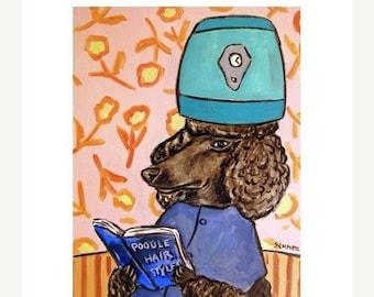 25% off Poodle at the  Salon Dog Art Print