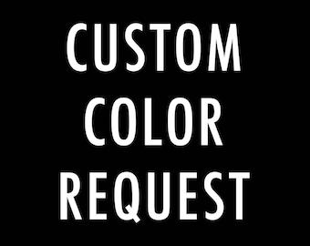 Custom Color Modification