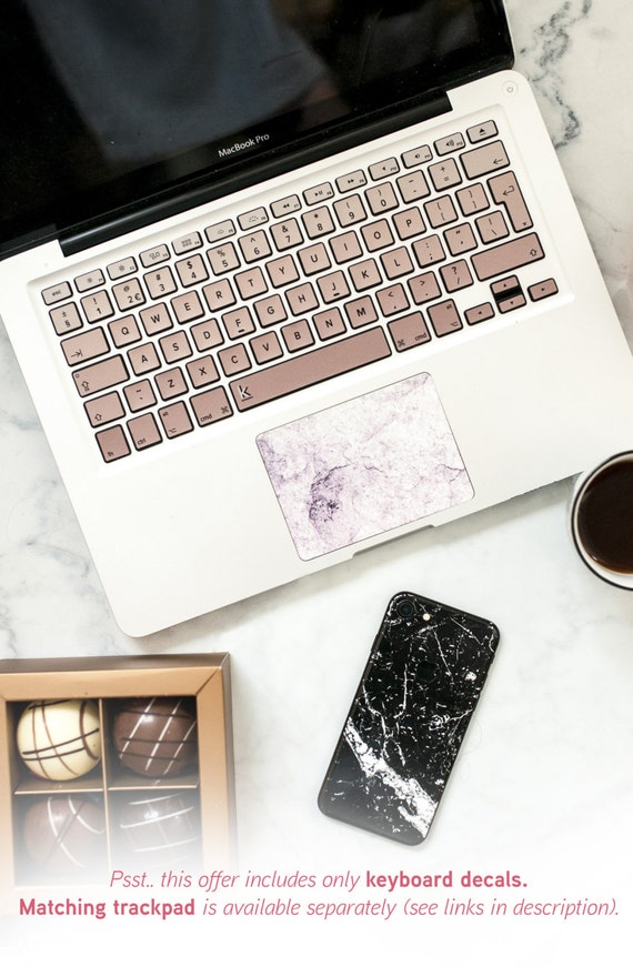Macbook decal keyboard rose gold ombre color macbook stickers