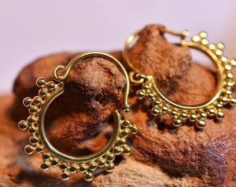 "Brass Earrings ""Dots Small"""