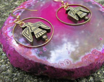 Circling Eagle Earrings