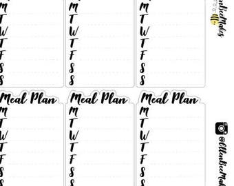 Weekly Meal Plan Stickers