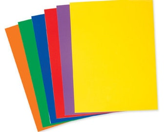 Cling Vinyl 48 Sheets 9x12 Assorted Colors for Die Cut DIY Home School Static Cling Vinyl Interactive Games Craft Kit Teacher Gift Education