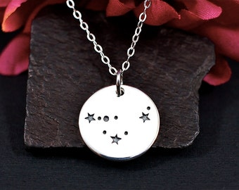 Sterling Silver Capricorn Constellation Necklace - Capricorn Jewelry