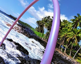 "3/4"" Orchid Purple Color Shifting Polypro Hula Hoop with Custom Diameter & Grip Options!"