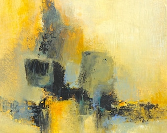 Abstract on cardboard painting