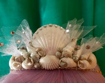 Seashell crown/Tiara, Mermaid headpiece