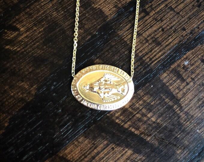 Sideways Mary Choker in 14k Gold