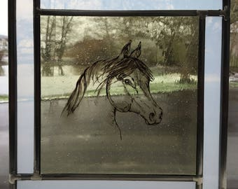 stained glass - horse #three