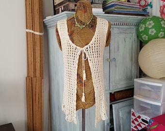 Vintage Hand Crocheted Vest