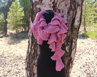 Crochet Scarf PATTERN, Ruffle Scarf Pattern, Chunky Scarf Pattern, DIY Scarf, Easy Scarf, Instant Download, PDF Pattern #197 Lyubava Crochet