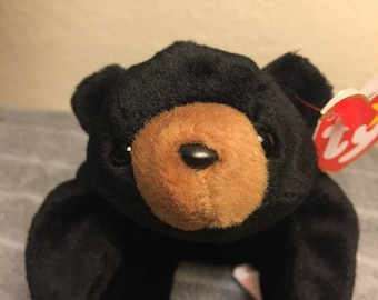 "TY Beanie Baby ""Blackie"" with Multiple Tag Errors, Retired, Rare 1993/1994"