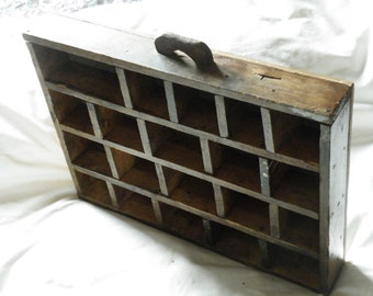 Rustic Farmhouse Style, Vintage Storage Drawer, Solid Wood, Hand Made, Knick Knack Shelf