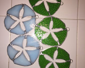 Colored sand dollars sun catcher