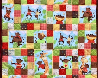 """Monkey See Baby Quilt Kit 30"""" x 38"""""""