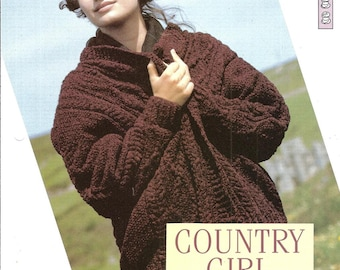 """Knitting pattern - Woman's """"Country Girl"""" jacket - Instant download"""