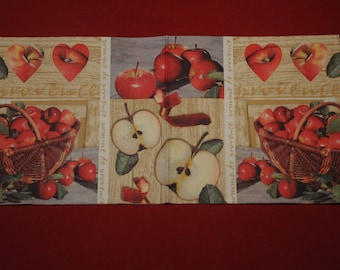 """fruits and vegetables """"Apples"""" themed paper napkin"""