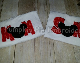 Mom and Son Mickey Mouse Shirts/Disney