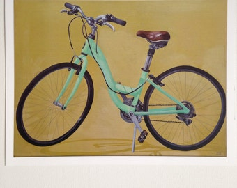 Green Bicycle print
