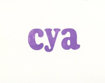 Note card. cya