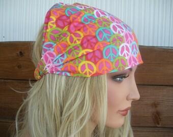 Womens Headband Fabric Headband Summer Fashion Accessories Women Headwrap Yoga Headband Headscarf in Peace Sign print